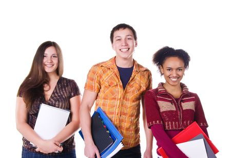Group of student isolated on white background Stock Photo - 6352347