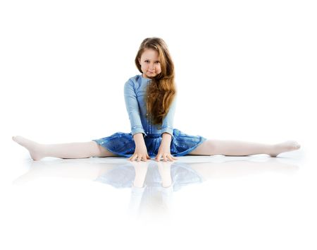 Little ballet dancer isolated on a white background Stock Photo - 7328716