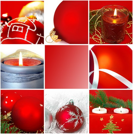 christmas atmosphere: christmas and  new years cards collection Stock Photo