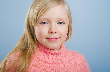 Cute little girl with long hair photo