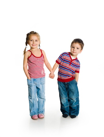 little boy and girl Stock Photo - 9372120