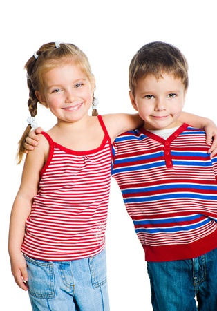 little boy and girl Stock Photo - 9427679