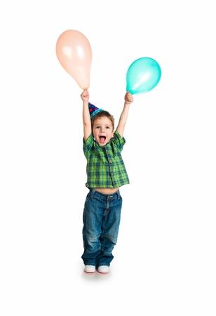 prodigio: Little boy in cap compleanno Archivio Fotografico