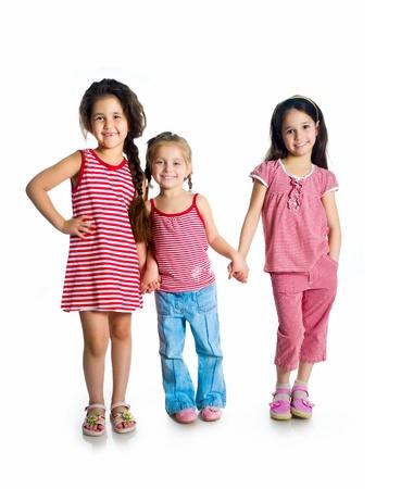 cute little girls: lindas ni�as Foto de archivo