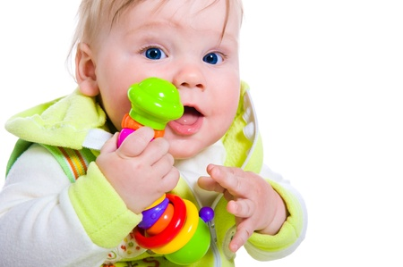 12 18 months: Cute little boy Stock Photo