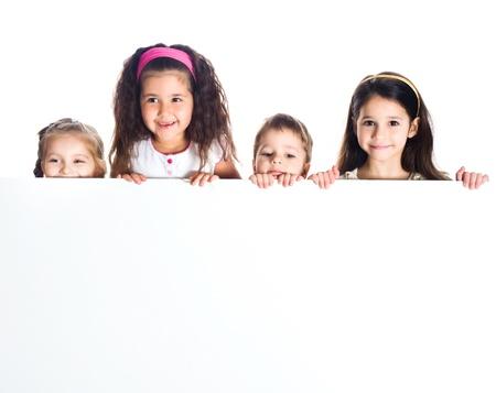 Grouop van smily kinderen Stockfoto