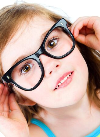 Pretty young girl in glasses photo