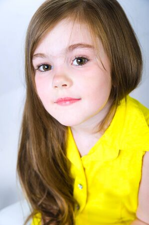 6 years girl: portrait of a pretty little girl Stock Photo