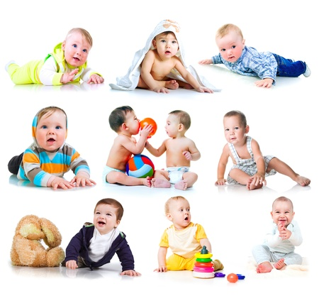 Collection photos of a kids Stock Photo - 9860166