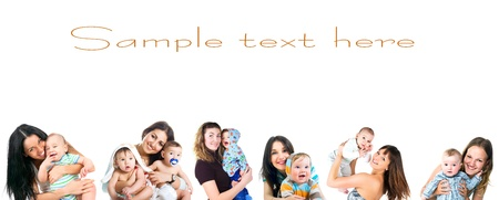 young women with her baby set Stock Photo - 9860172