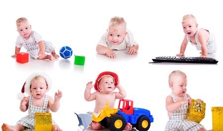 12 18 months: Set photos of a cute little boy