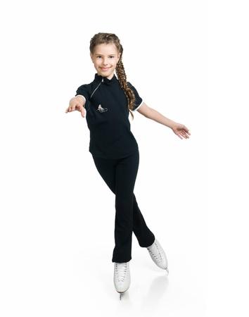 Young girl figure skating Stock Photo - 9986146