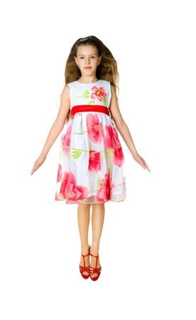 Cute little girl jump photo