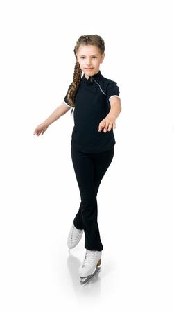 Young girl figure skating photo