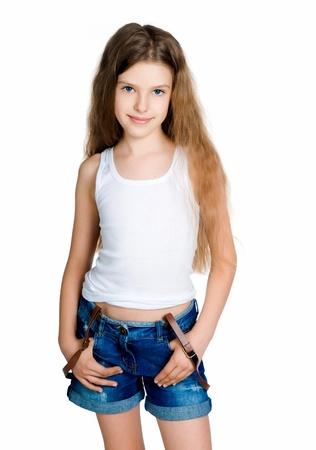 cute braces: Little girl   Stock Photo