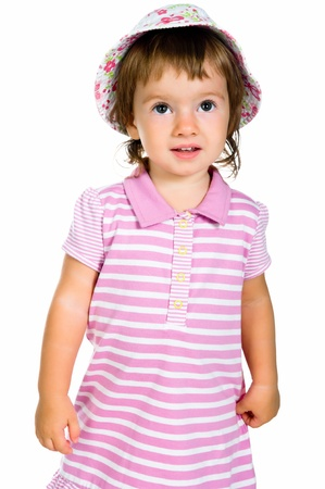 Cute little girl close-up Stock Photo - 10226078