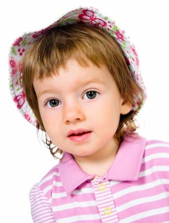 12 18 months: Cute little girl close-up Stock Photo