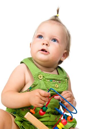 small baby with developmental toy Stock Photo - 10226057