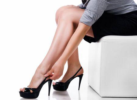 belles jambes: Slim longues jambes de la femme sexy