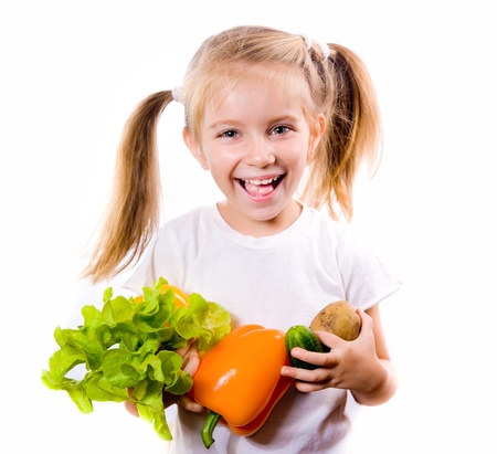 Little girl with the vegetables Stock Photo - 10705967