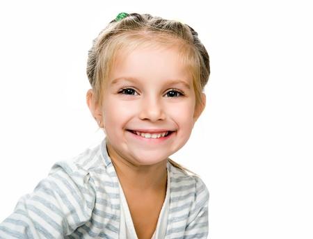 girl face close up: Cute little girl