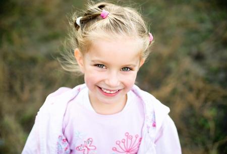 only girls: beautiful liitle girl Stock Photo