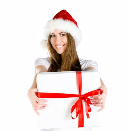 young women with the gift Stock Photo - 10955554