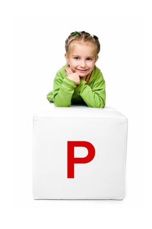 little kid on the block with letter photo