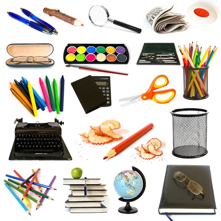Group of education theme objects Stock Photo - 11023865