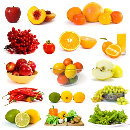 Vegetables and fruits collection Stock Photo - 11094693