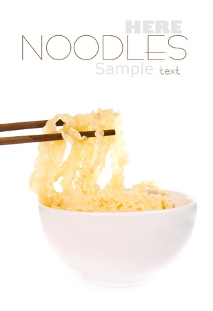 noodle with pinch chopsticks photo