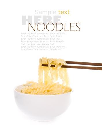 chopstick: noodle with pinch chopsticks