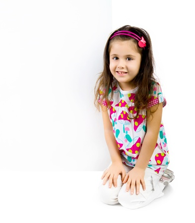 child behind a white board Stock Photo - 11155957