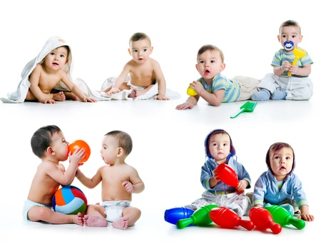two months: Twin brothers