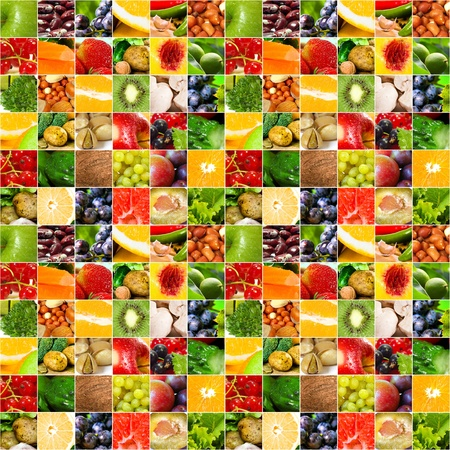 Fruits vegetable big collage photo