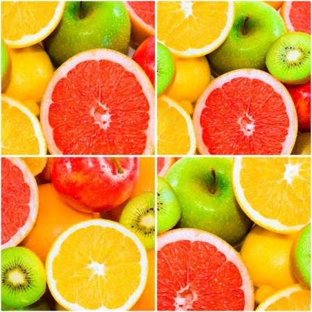 Big assortment of fruits photo