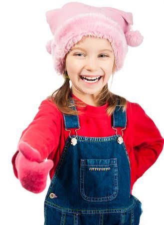 5 6 years: portrait of a cute little girl in a cap