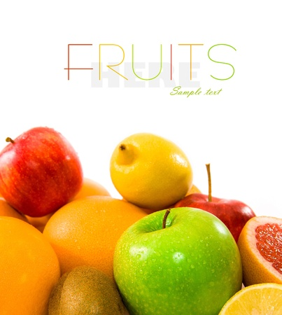Big assortment of fruits as a background Stock Photo - 12062459