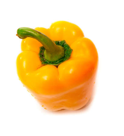 whie: ripe pepper on a whie background