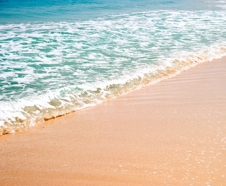 unspoilt: beautyful beach and a tropical sea Stock Photo