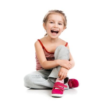 girl gymnast on a white background Stock Photo - 12940942