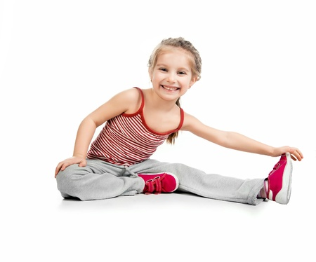 girl gymnast on a white background Stock Photo - 12941192