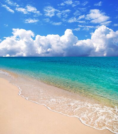 beautyful beach and a tropical sea Stock Photo