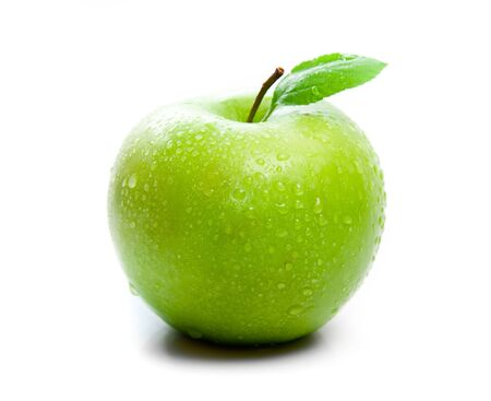 green apple: green apple on a white background Stock Photo
