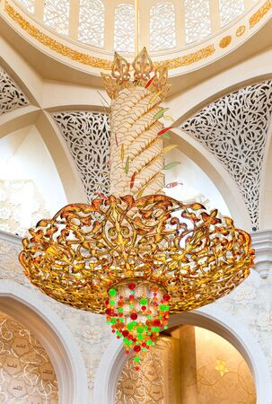 electrolier: Decoration of Sheikh Zayed Mosque  Abu Dhabi, United Arab Emirates