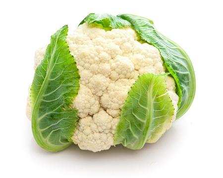 head of cauliflower: Cauliflower isolated on white background Stock Photo