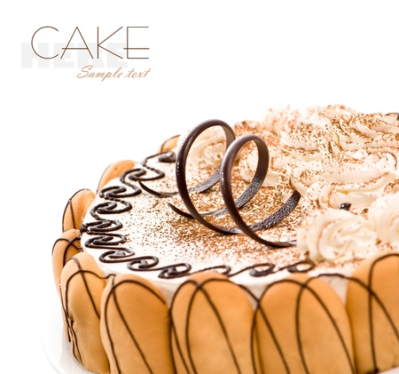 sweet cake ower white background photo