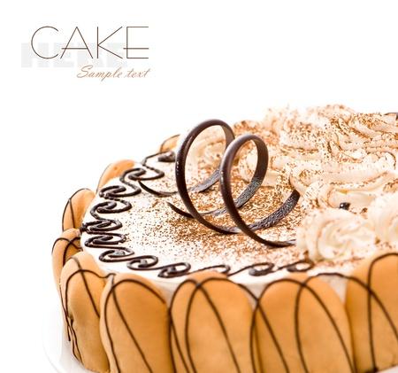 sweet cake ower white background photo