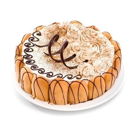 cakes background: torta dulce ower fondo blanco