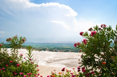 Pathwalk near the pool in Pamukkale resort, photo